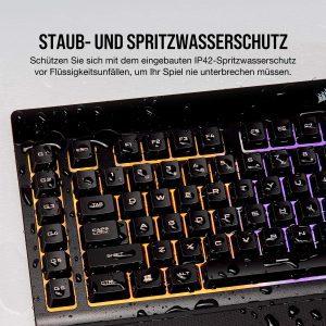 4Corsair k55 rgb gaming tastatur test